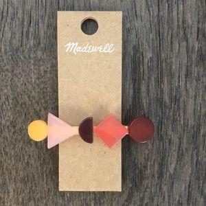 Madewell Shadow Multicolored Geometric Barrette.